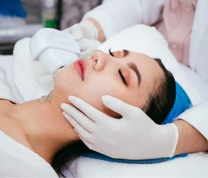 Women Getting IPL Treatment