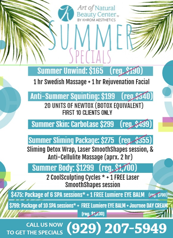 Summer Special at Art of Natural Beauty Center