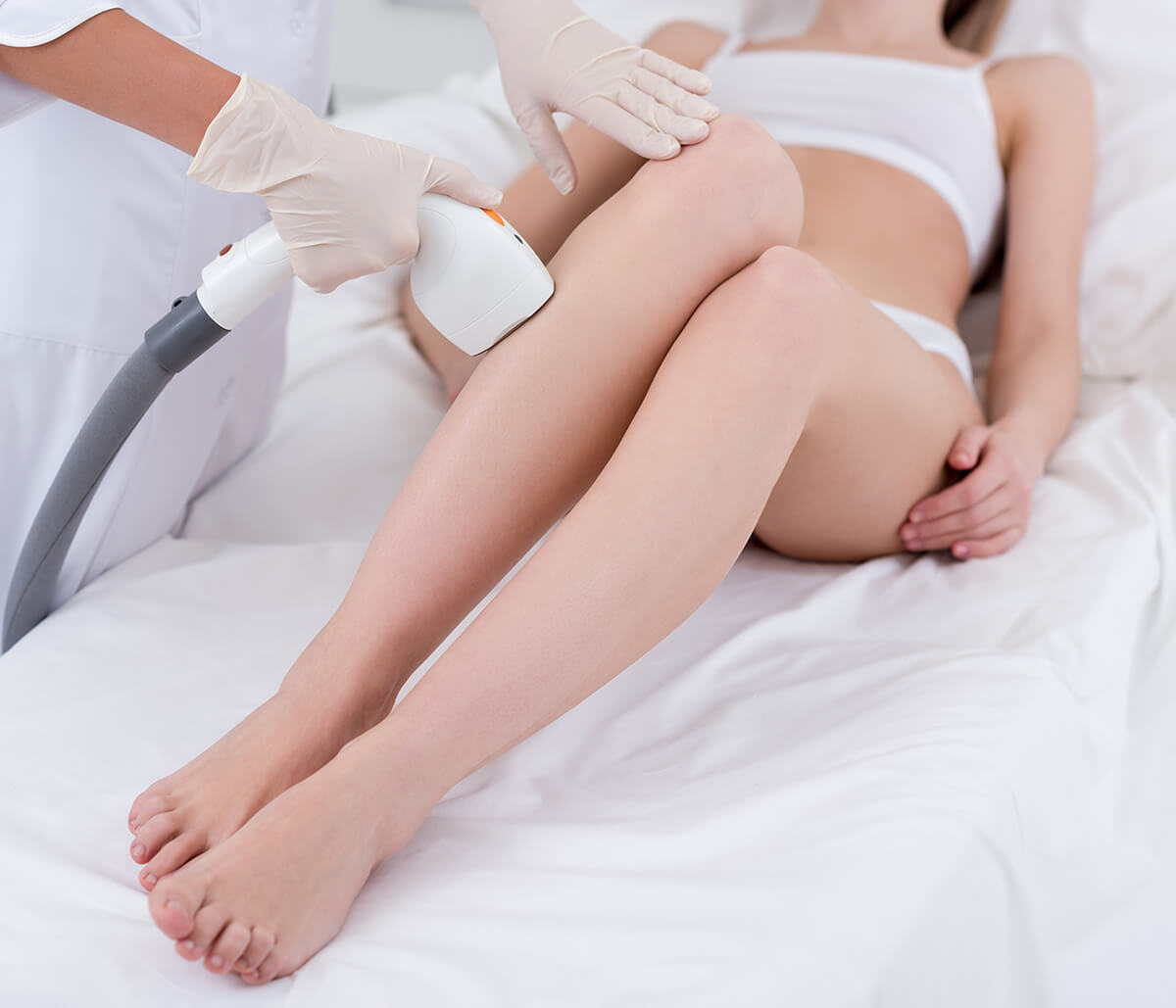 Semi-permanent laser hair removal treatment minimizes unwanted hair